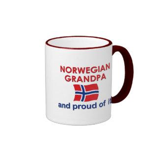 Norwegian Grandpa-Proud of it Ringer Mug