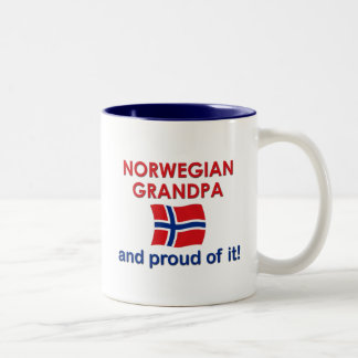 Norwegian Grandpa-Proud of it Two-Tone Coffee Mug
