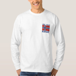 Norwegian  Hockey Sports Embroidered Long Sleeve T-Shirt
