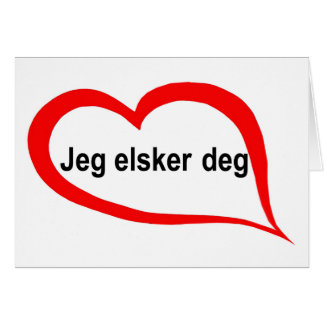 Norwegian I love you Card