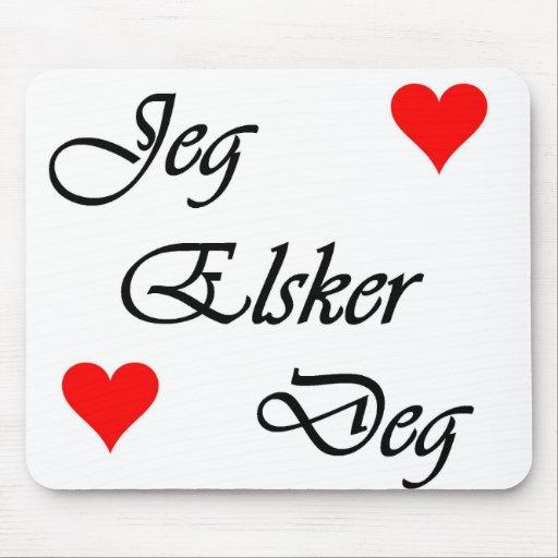 Norwegian I Love You Norsk Jeg Elsker Deg Nordic Mouse