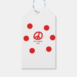 Norwegian Language And Peace Symbol Design Gift Tags