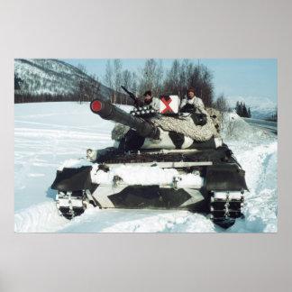 Norwegian Leopard 1 main battle tank Poster