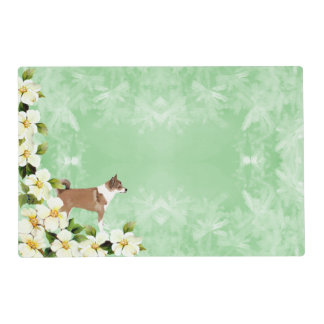 Norwegian Lundehund and Dogwood Flowers Placemat