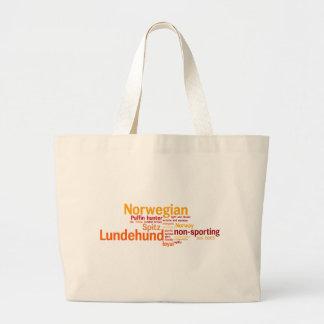 Norwegian Lundehund Large Tote Bag