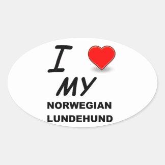norwegian lundehund love sticker