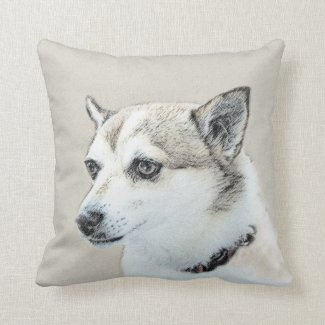Norwegian Lundehund Throw Pillow