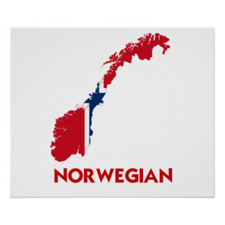 NORWEGIAN MAP POSTER