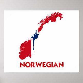 NORWEGIAN MAP POSTER