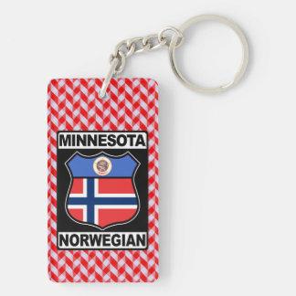 Norwegian Minnesotan American Keyring