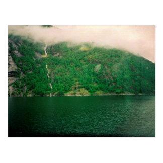 Norwegian Misty Mountain Postcard