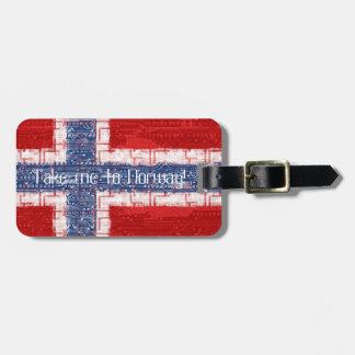 Norwegian Motherboard Theme Bag Tag