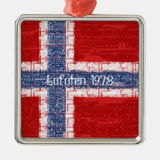 Norwegian Motherboard Theme Metal Ornament