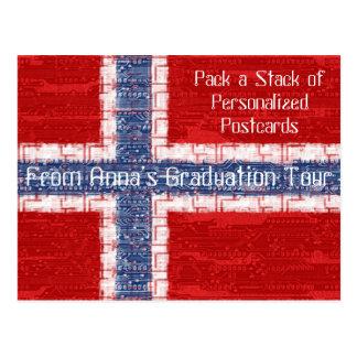 Norwegian Motherboard Theme Postcard
