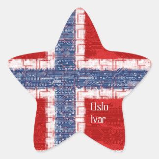 Norwegian Motherboard Theme Star Sticker