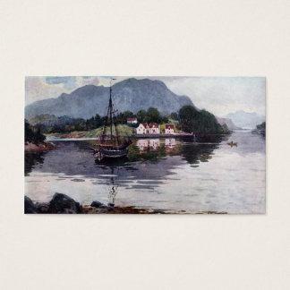 Norwegian nature getaway business card