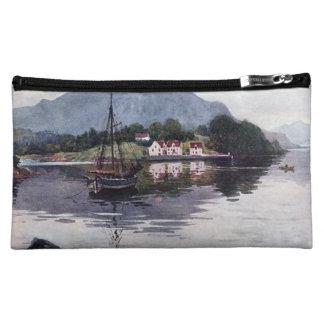 Norwegian nature getaway cosmetic bag
