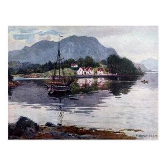 Norwegian nature getaway postcard