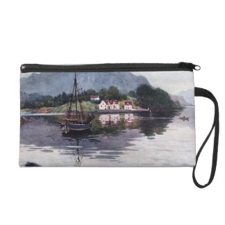 Norwegian nature getaway wristlet purse