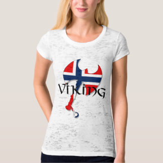 Norwegian Norse Norge Norway flag Axe T-Shirt