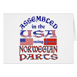 Norwegian Parts Greeting Card