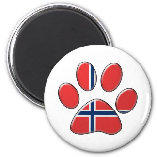 Norwegian patriotic cat 2 inch round magnet