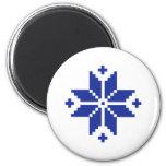 Norwegian pattern star fridge magnet