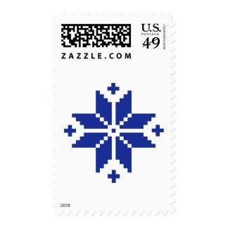Norwegian pattern star postage