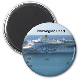 Norwegian Pearl 2 Inch Round Magnet