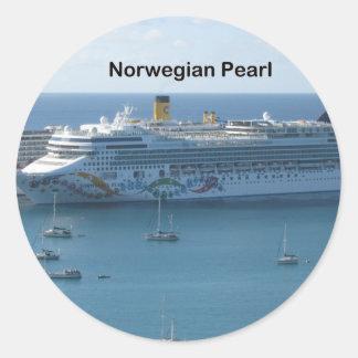 Norwegian Pearl Classic Round Sticker