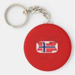 Norwegian pride key chain