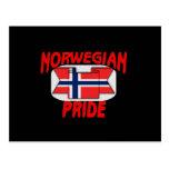Norwegian pride postcard