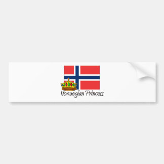 Norwegian Princess Bumper Sticker