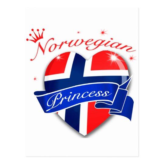 Norwegian princess postcard