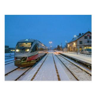 Norwegian railcar BM 93 - 06 Postcard