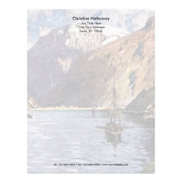 Norwegian river and mountains letterhead