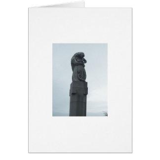 Norwegian sculpture card