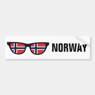 Norwegian Shades custom text & color bumpersticker Bumper Sticker