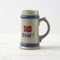 Norwegian Skal! (Cheers) Beer Stein