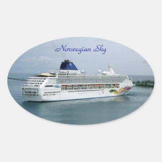 Norwegian Sky Oval Sticker