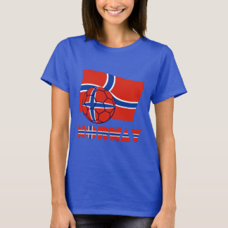Norwegian Soccer Ball and Flag T-Shirt
