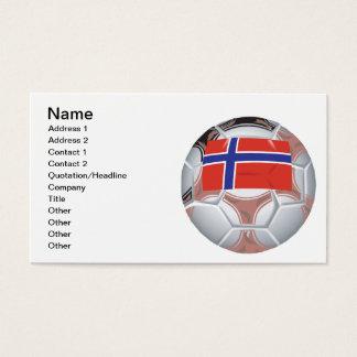 Norwegian Soccer Ball Business Card