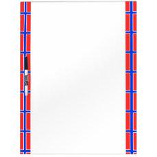 Norwegian stripes flag Dry-Erase board