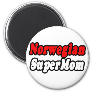 Norwegian SuperMom 2 Inch Round Magnet