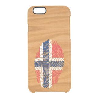 Norwegian touch fingerprint flag clear iPhone 6/6S case