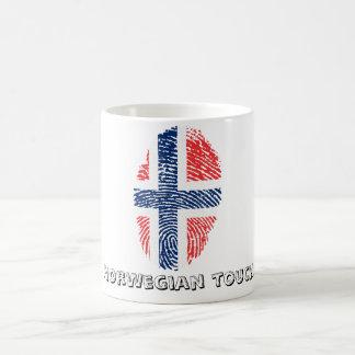 Norwegian touch fingerprint flag coffee mug