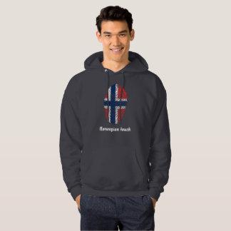 Norwegian touch fingerprint flag hoodie