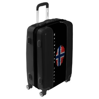 Norwegian touch fingerprint flag luggage