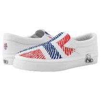 Norwegian touch fingerprint pattern Slip-On sneakers