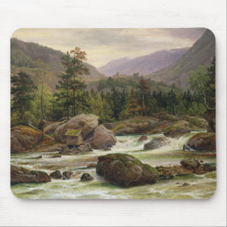 Norwegian Waterfall, 1840 Mouse Pad